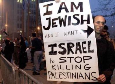 Jewish protester against Israel's APARTHEID