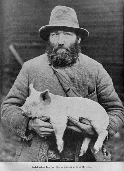 Ο πατέρας του γουρούνερμαν με το γιό του