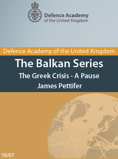 The Greek Crisis - A Pause (pdf)