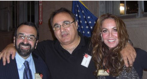 Robert Spencer (left), Pam Geller(right) + Iranian emigre