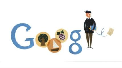 Google Doodle honouring Odysseus Elytis