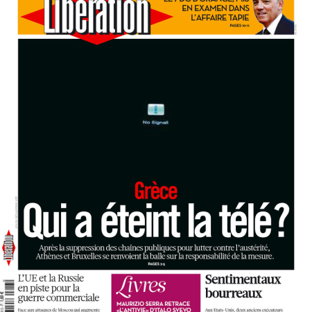 Libération (front-cover, 13 June 2013)